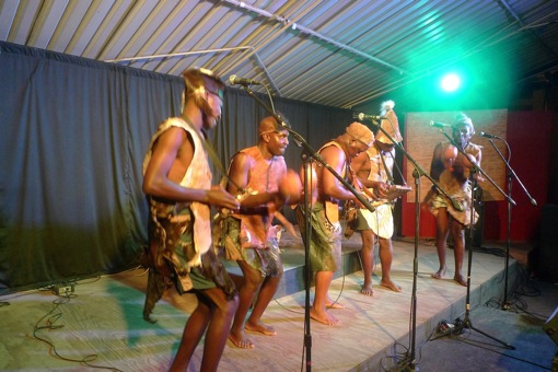 Book Cafe night club with traditional Zimbabwen dances.