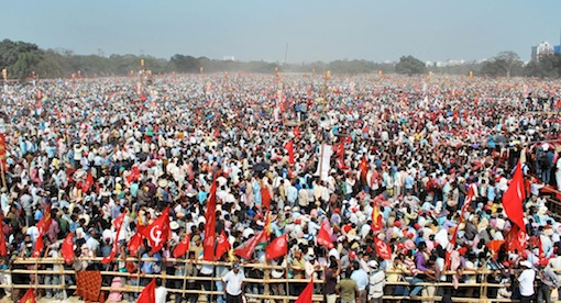 Left Front Rally, February 9, Kolkata, Debasish Chakraborty.