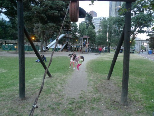 children in public park