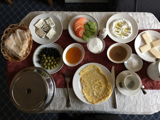 mouthwatering breakfast in Aleppo